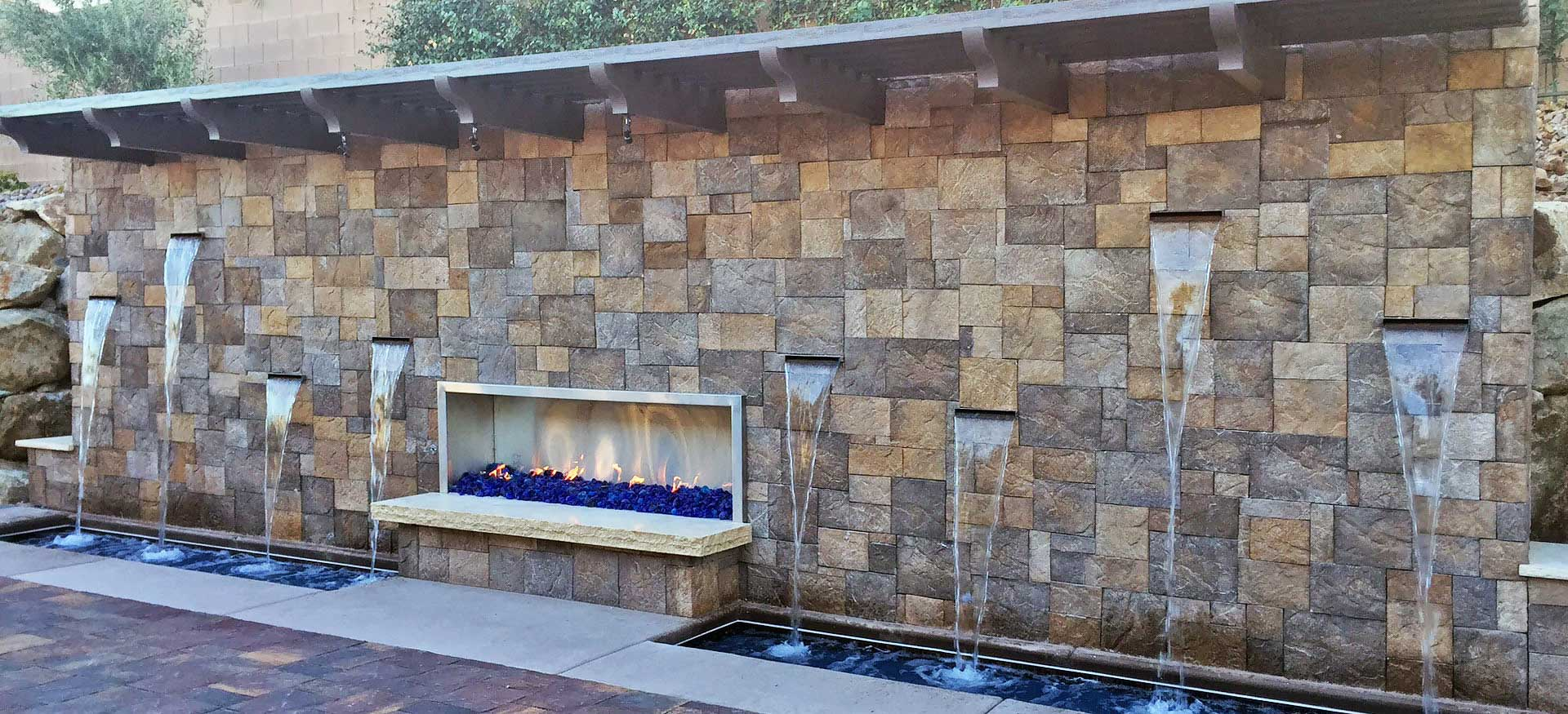 Waterfall Fire Feature
